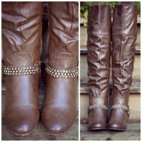 Equestrian Warrior Brown Over Knee Riding Boots