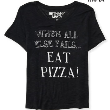 Eat Pizza Crop Graphic T