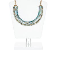 Layla Beaded Statement Necklace   Blue   Accessorize