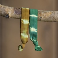 Brown  &  Emerald  Tie-Dye  Bracelet/Hairbands  from  Natural  Life