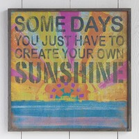 Create  Your  Own  Sunshine  Big  Bungalow  Art  From  Natural  Life