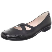 Taryn Rose Women`s Bethany Flat,Black Calf,10 M US