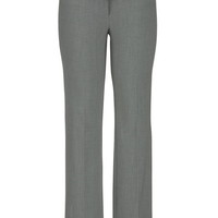 Slimming Smart Gray tab waist bootcut pants