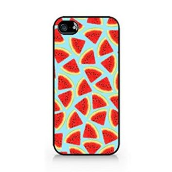 Watermelon Pattern - Tropical Pattern - Summer Pattern - Tropical Fruit Pattern - iPhone 4/4S Black Case