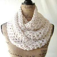 Ready To Ship New Long Fisherman Winter White Wool Blend Cowl Scarf Women Fall Winter Accessory 170