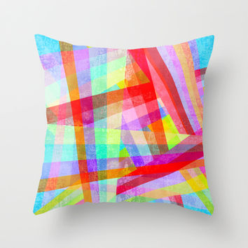 Rainbow Mix Throw Pillow by Ornaart
