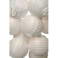 Amazon.com: White Round Paper Lantern String Lights (flat-packed): Furniture & Decor