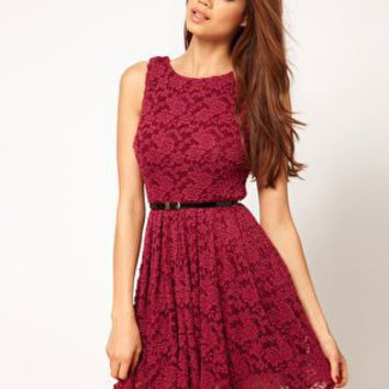 TFNC Skater Dress in Lace at asos.com