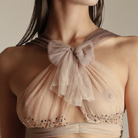 Damaris: Raison DEtre Silk Tulle Necklace Bra at Nancy Meyer