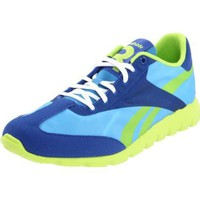 Reebok Women`s Classic Racer Relay Lace-Up Fashion Sneaker,Athletic Blue/Royal/Sonic Green,9 M US