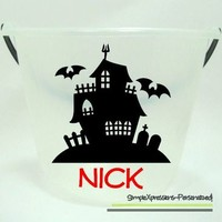 GLOW IN THE DARK Personalized Halloween Pail from SimpleXpressions-Personalized!