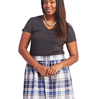 Plaid Skater Skirt | Wet Seal+