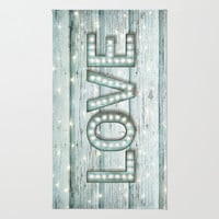 Love is the Light of Your Soul (LOVE lights II) Area & Throw Rug by soaring anchor designs ⚓ | Society6