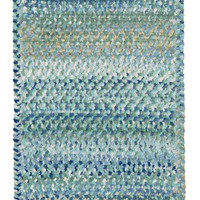 Capel Rugs Grand Le Fleur Blue Mist Cotton Rug