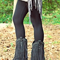 Four Strong Winds Fringe Boots - Black
