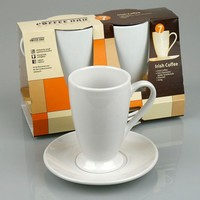 #7 Set of 2 Irish Coffee Cup & Saucer, Gift Boxed