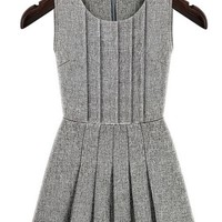 Innovative Grey Pleated Rompers - OASAP.com
