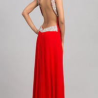 Floor Length Open Back JVN by Jovani Dress