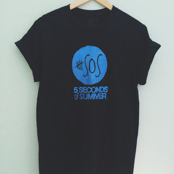 5 Seconds of Summer Crew Neck T-Shirt 5SOS Band