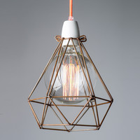 Diamond Cage with Cord and Filament Globe Set