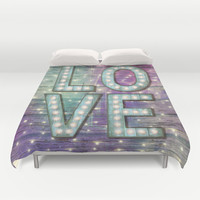 Love is the Light of Your Soul (LOVE lights III) Duvet Cover by soaring anchor designs ⚓ | Society6