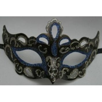 RIALTO BLUE , BRONZE, BLACK & GOLD VENETIAN MASQUERADE CARNIVAL PARTY EYE MASK
