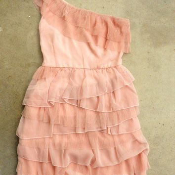 Tiered Peony Chiffon Party Dress [2388] - $32.00 : Vintage Inspired Clothing & Affordable Summer Dresses, deloom | Modern. Vintage. Crafted.