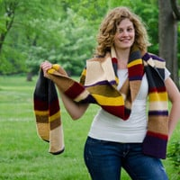 Doctor Who Scarf Knit Long Made To Order