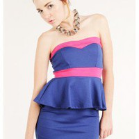 PEPLUM FITTED DRESS @ KiwiLook fashion