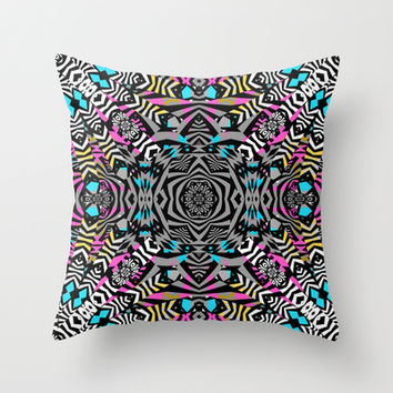 Mix #586 Throw Pillow by Ornaart