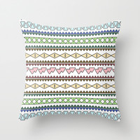 Geometric Pastels Throw Pillow by Alice Gosling | Society6