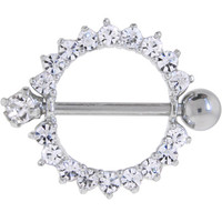 Crystalline Gem CIRCLE OF LIFE Nipple Ring | Body Candy Body Jewelry