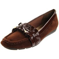 Annie Shoes Women`s Genie Moccasin,Brown,9.5 M US