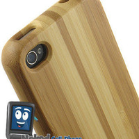NEW LIMITED LUXURY STRIPED WOOD NATURAL BAMBOO HARD CASE FOR APPLE iPHONE 4S 4 on eBay!