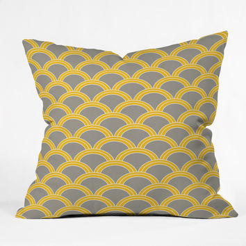 Caroline Okun Jaune Outdoor Throw Pillow