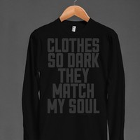 Dark, Like My Soul-Unisex Black T-Shirt