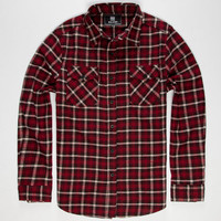 Elixir Rooster Mens Flannel Shirt Red  In Sizes