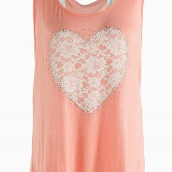 HEART LACE GRAPHIC TANK