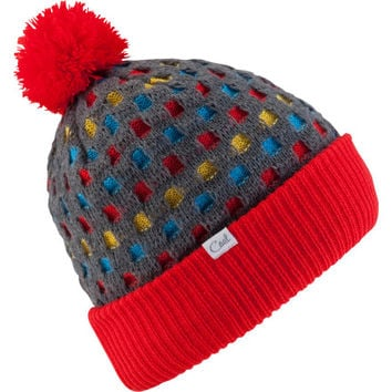 Coal Jackie Pom Beanie - Women's Red, One
