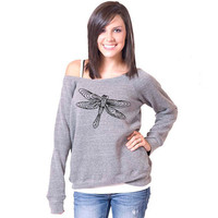 Dragonfly Bella Slouchy Wideneck Sweater