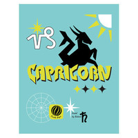 Capricorn Zodiac Sign Art Print by Visuaria