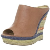 Luxury Rebel Women`s Clara Wedge Sandal,Natural,37 EU/7 M US