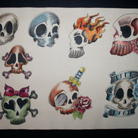 Skull flash sheet