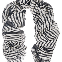 Stella McCartney Zebra-print modal and silk-blend scarf – 52% at THE OUTNET.COM