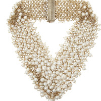 Rosantica Osiris gold-dipped pearl necklace – 60% at THE OUTNET.COM