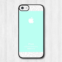 Tiffany Teal With Leopard iPhone 5c case, iPhone 5c hard cover, cover skin case for iphone 5c (Hard case or Rubber case)