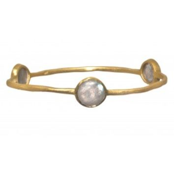 Gold Plated Bangle with Stones