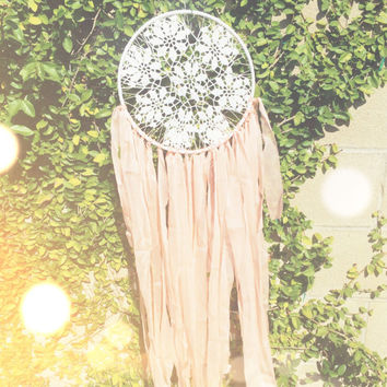 White & Peach Dream Catcher