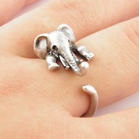 Silver Elephant Wrap Ring - ADVANCED ORDERS