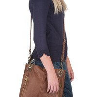 Two Tone Zip Side Crossbody bag